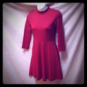 Forever 21 deep red skater dress